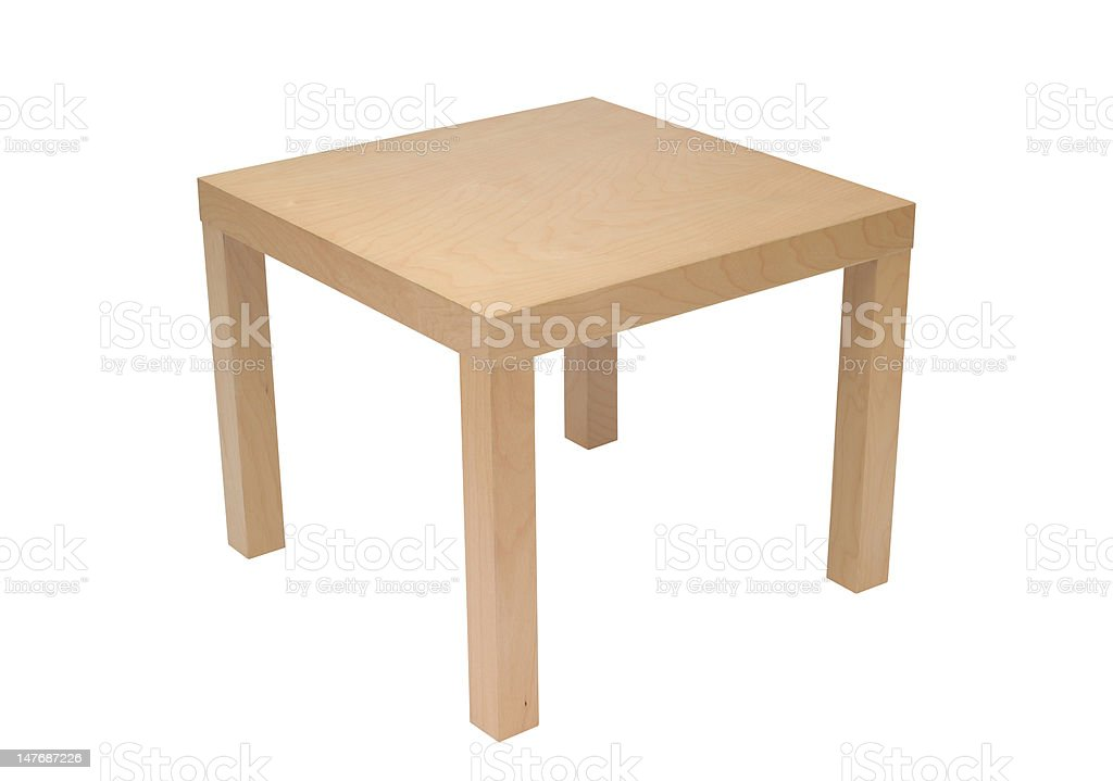 Pine Coffee Table stock photo
