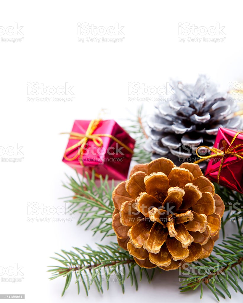 pine cone christmas ornament royalty-free stock photo