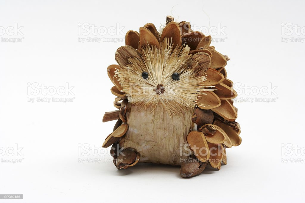 Pine Cone Hedgehog stock photo