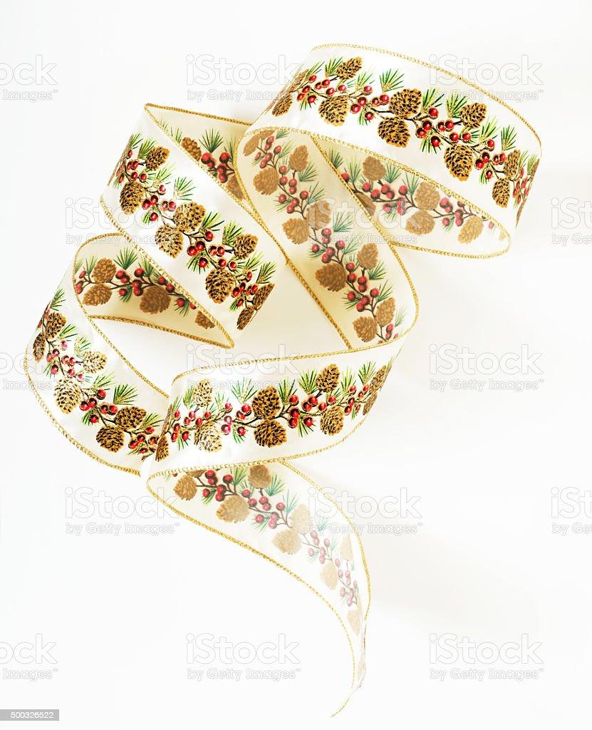 Pine Cone Ribbon Curls stock photo