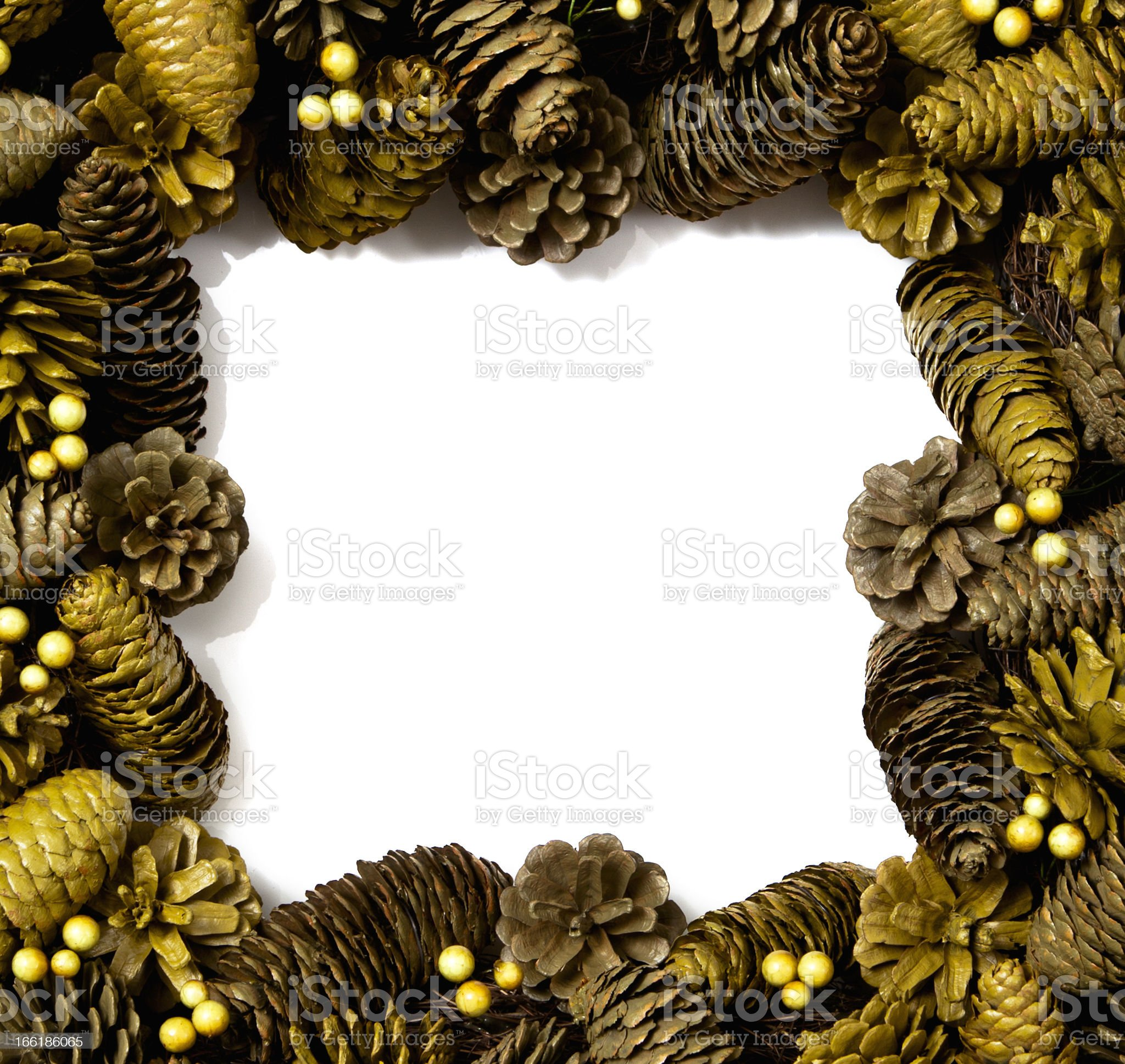 Pine Cone Wreath royalty-free stock photo