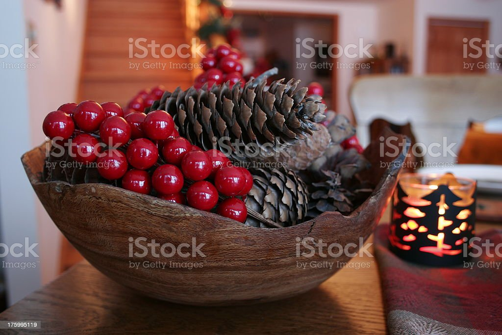 Pine Cones and Berries royalty-free stock photo