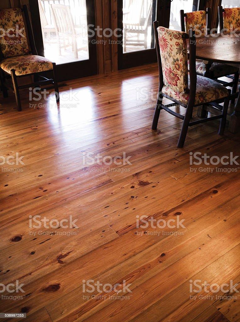 Pine Flooring stock photo