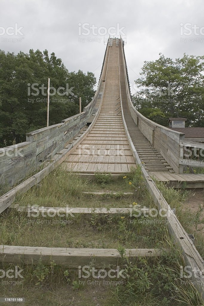 Pine Mountain Ski Jump stock photo