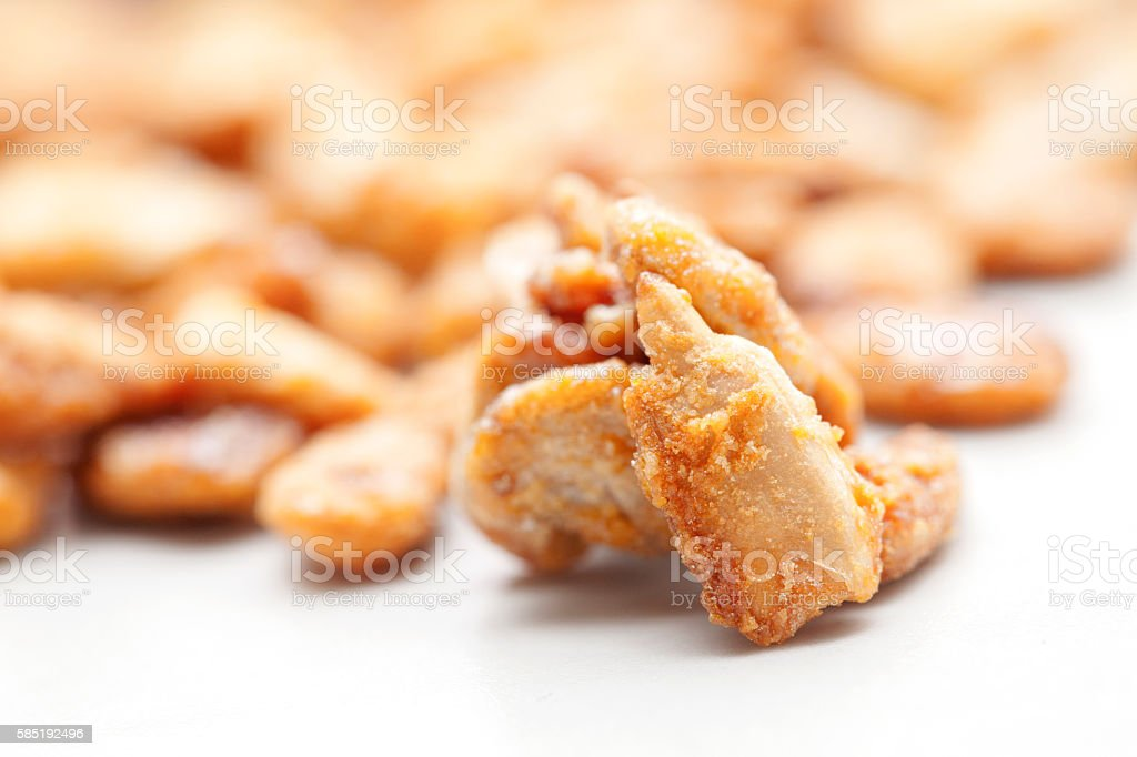 Pine nuts covered in caramel stock photo