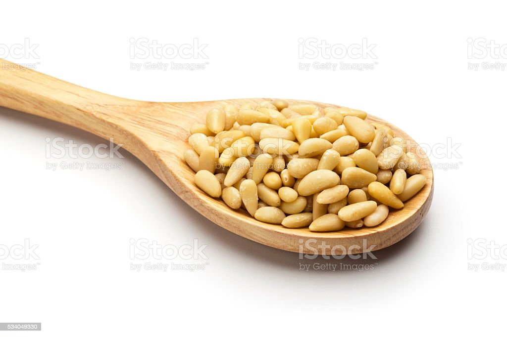 Pine nuts stock photo