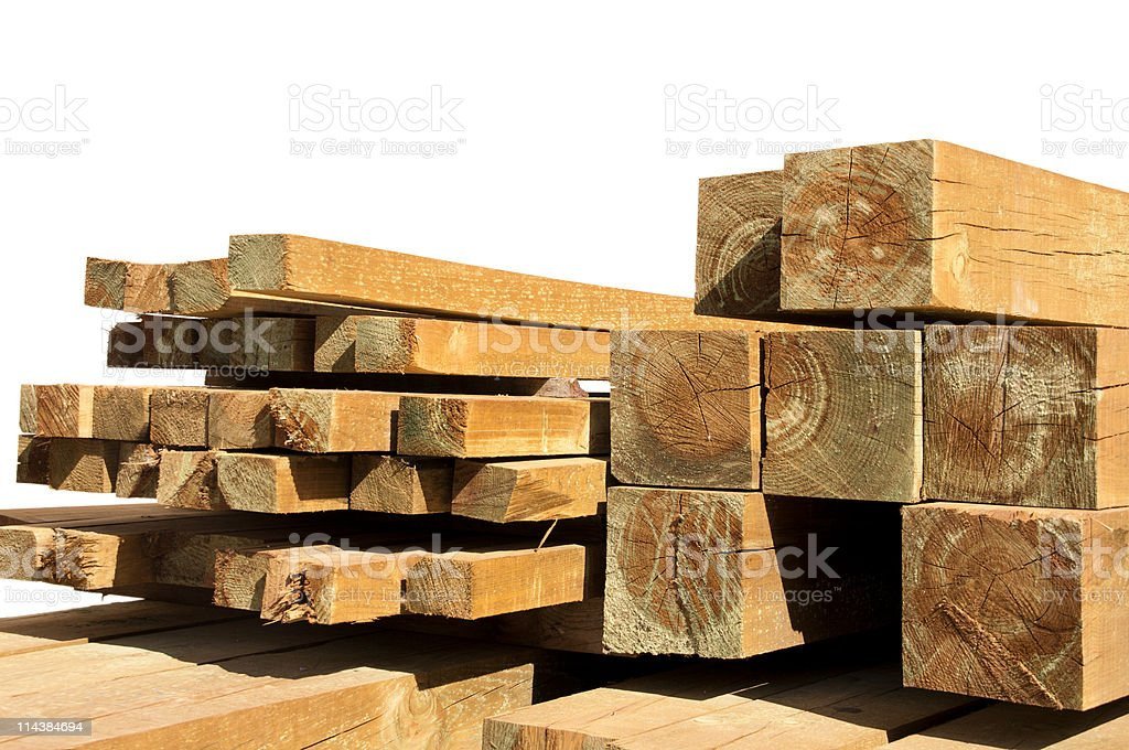 Pine wood logs royalty-free stock photo