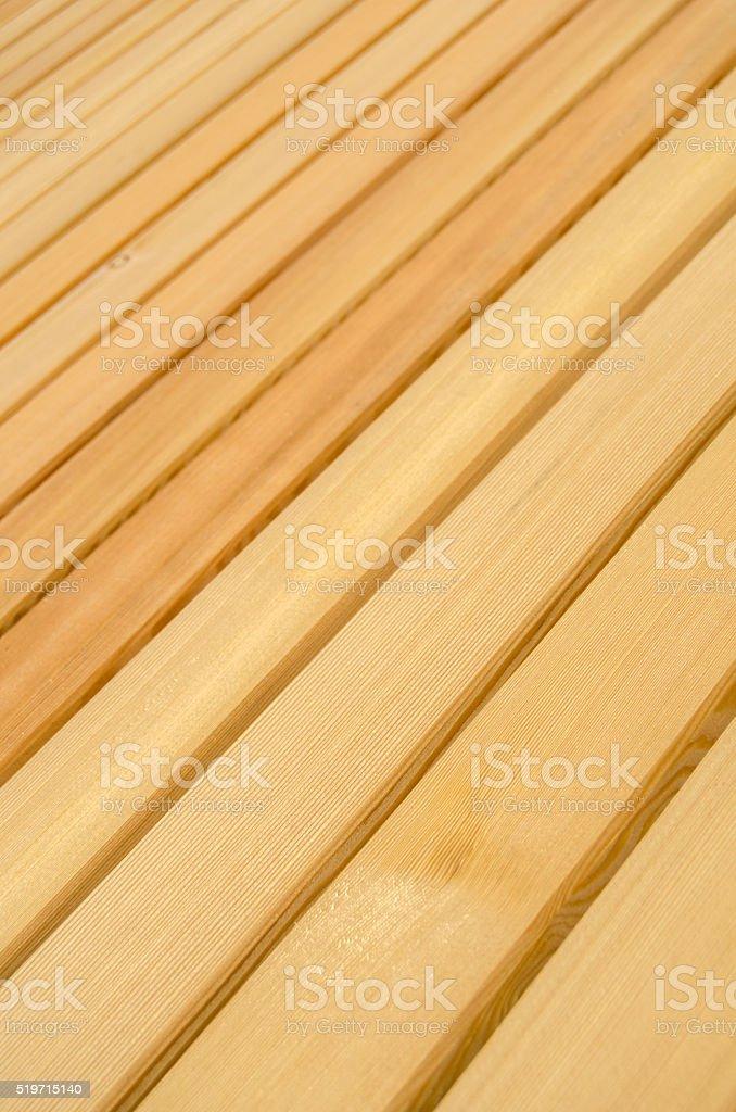 Pine Wood Patio Decking Background stock photo