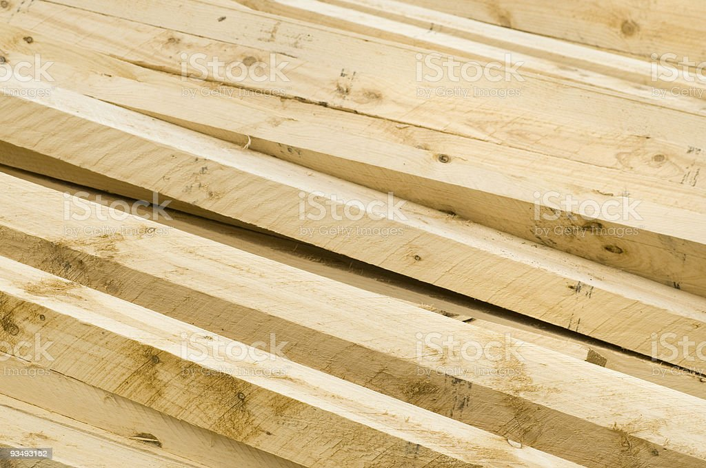 Pine Wood Planks stock photo