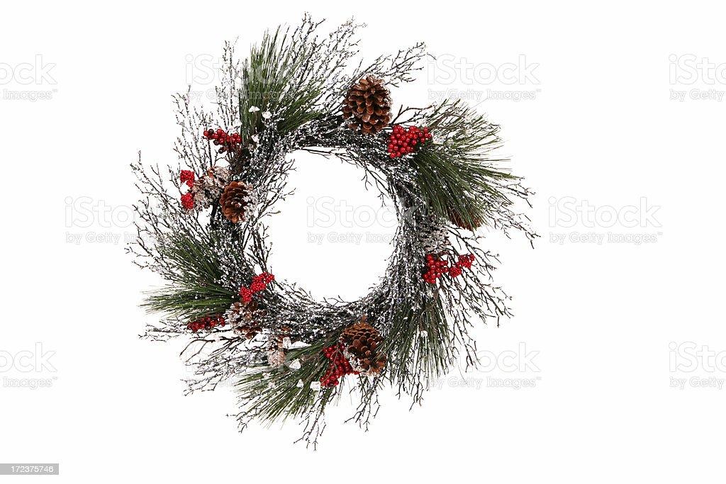 Pine Wreath royalty-free stock photo