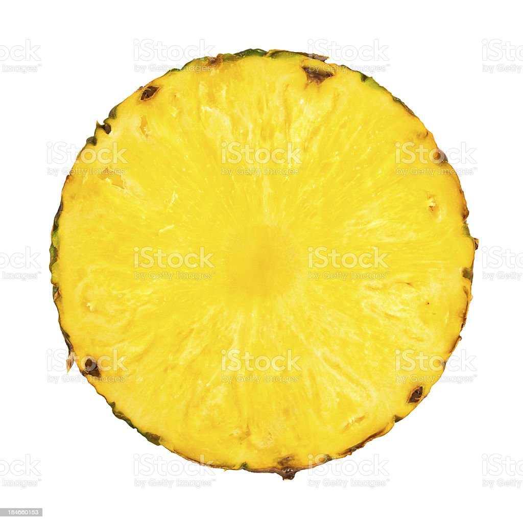 Pineaple Cross Section On White stock photo