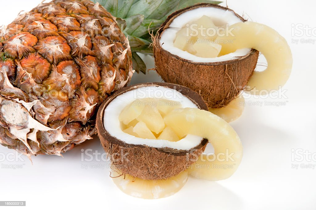 Pineapple and Fruit salad stock photo