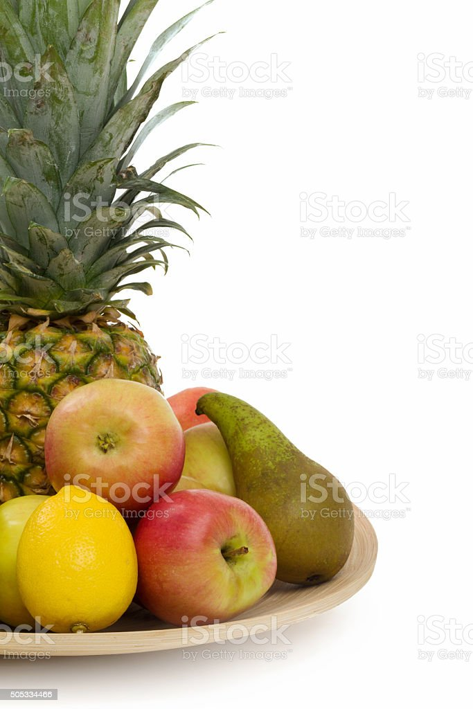 Pineapple and other fruit stock photo