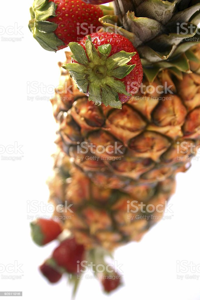 Pineapple and Strawberries royalty-free stock photo