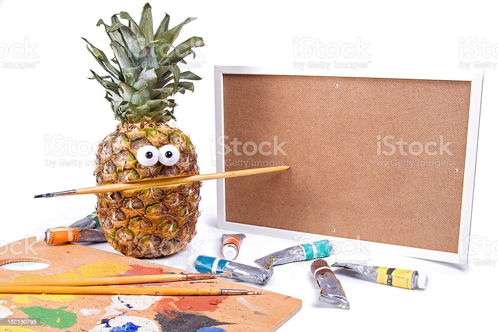 pineapple - artistic painter royalty-free stock photo