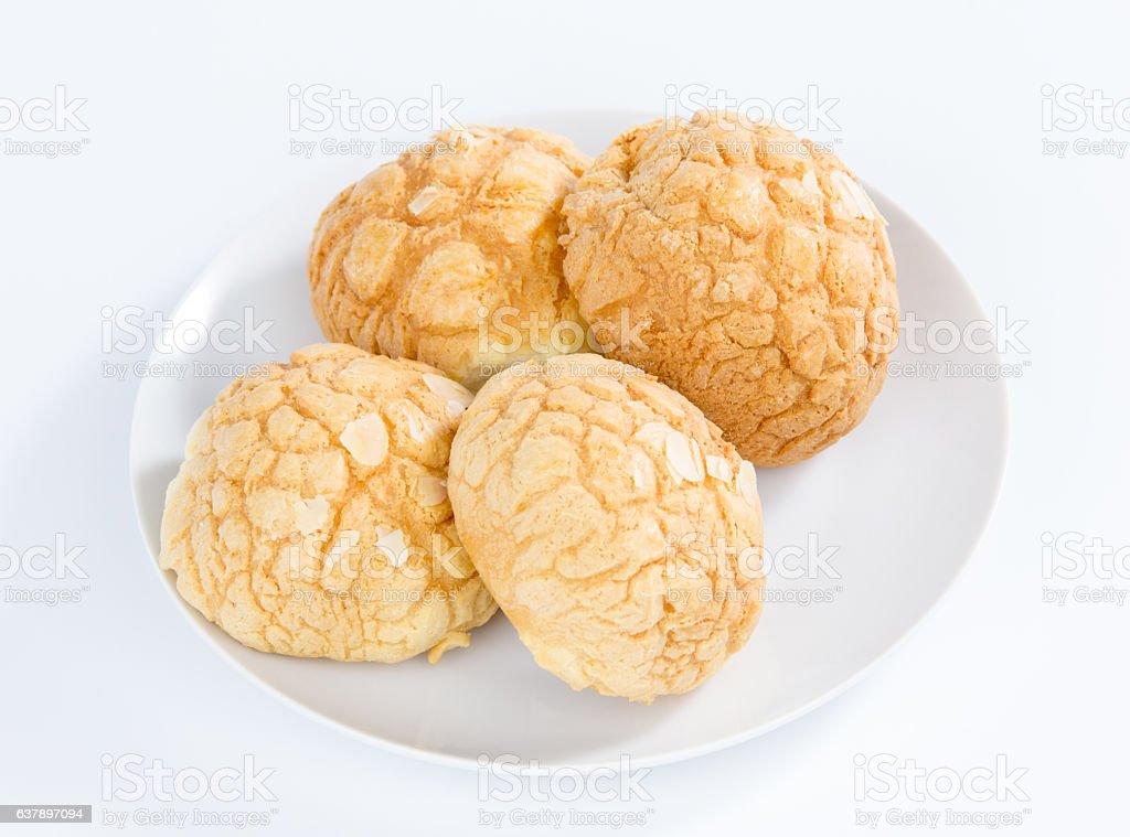 Pineapple Bread stock photo