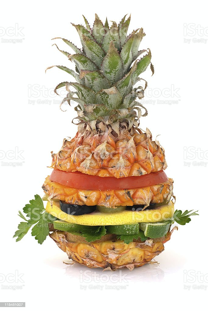 Pineapple burger royalty-free stock photo