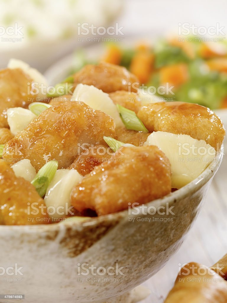 Pineapple Chicken royalty-free stock photo