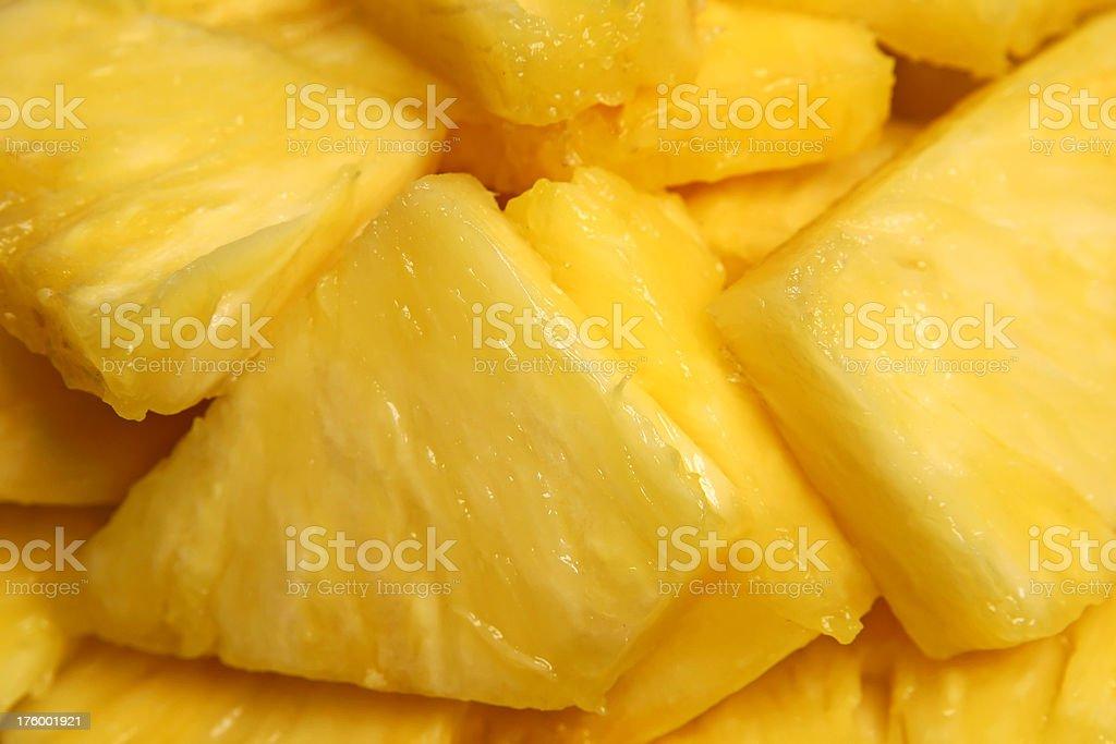 Pineapple Chunks royalty-free stock photo