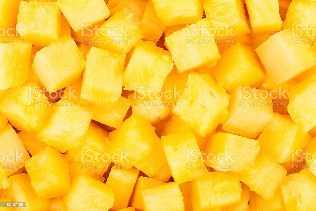 pineapple chunks stock photo