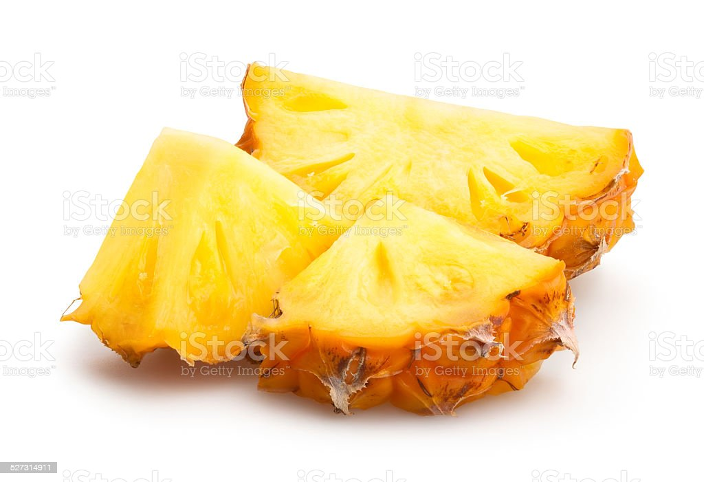 pineapple chunks stock photo