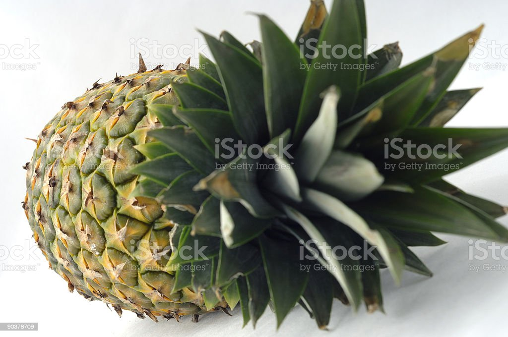 pineapple closeup stock photo