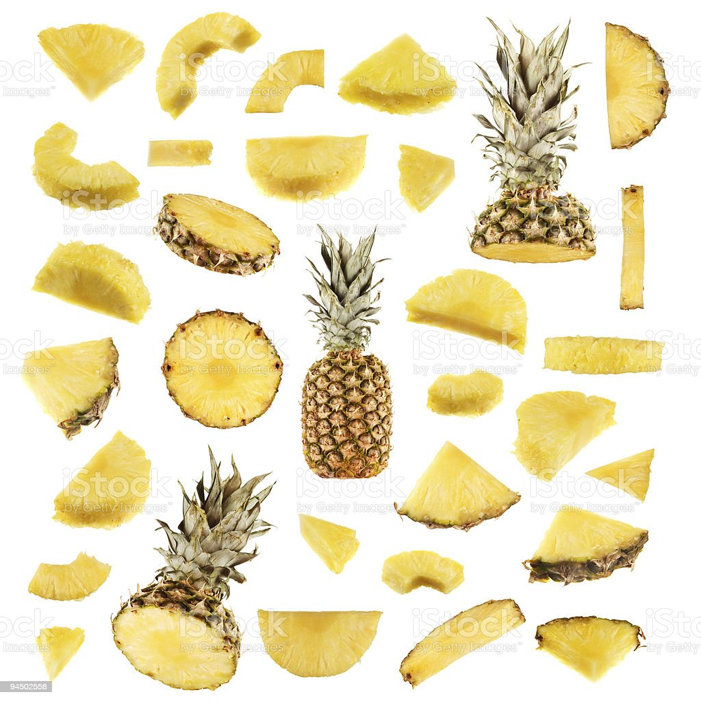 Pineapple collection stock photo