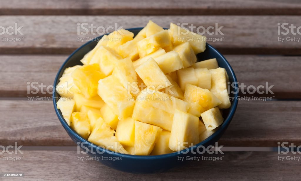 Pineapple cubes stock photo