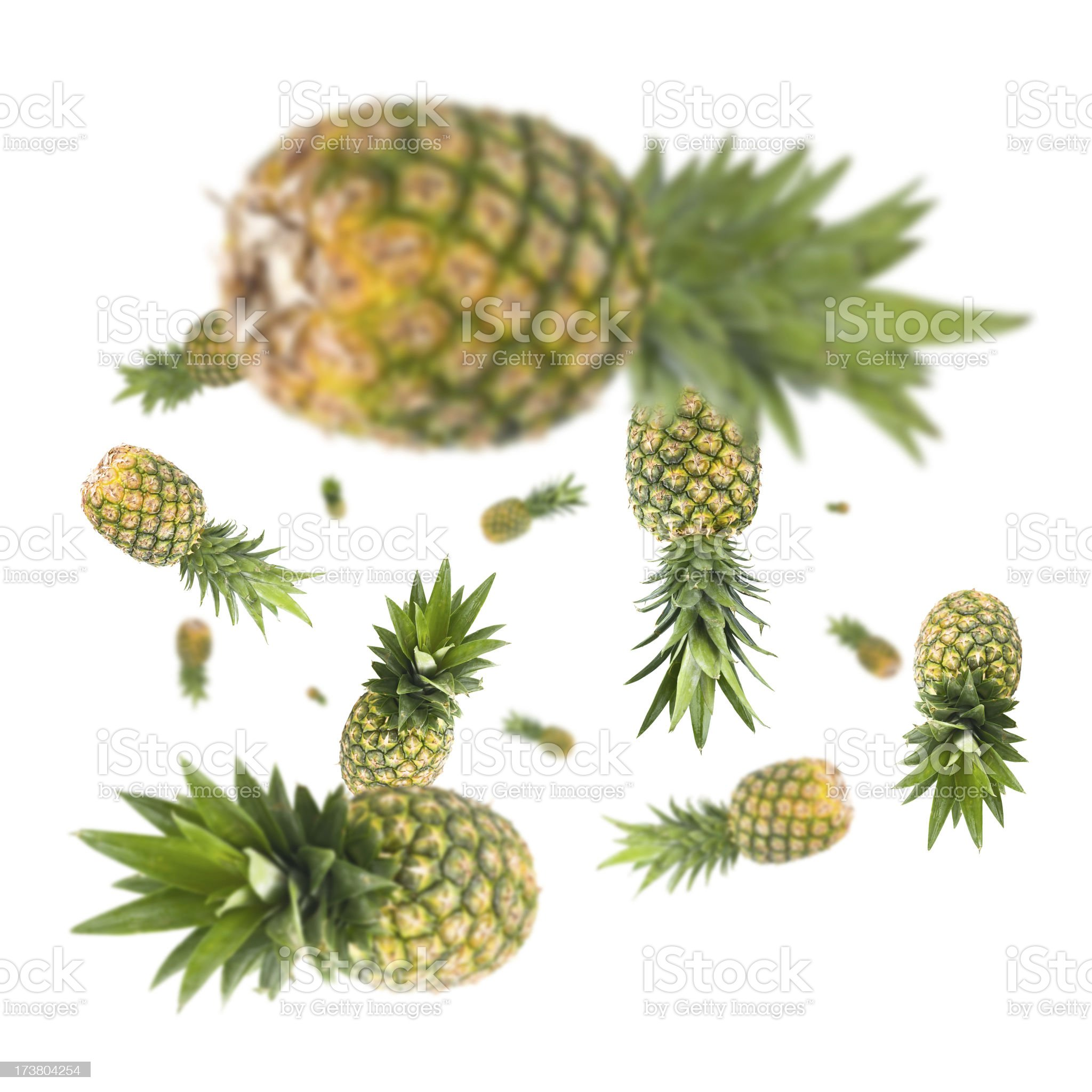 Pineapple Explosion royalty-free stock photo