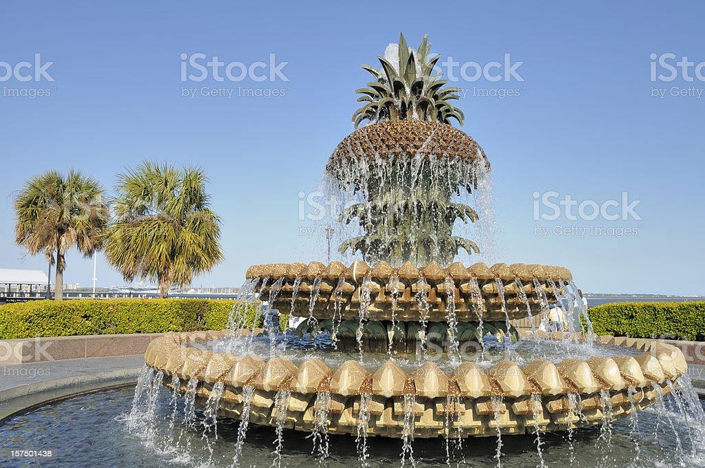 Pineapple Fountain, Charleston royalty-free stock photo