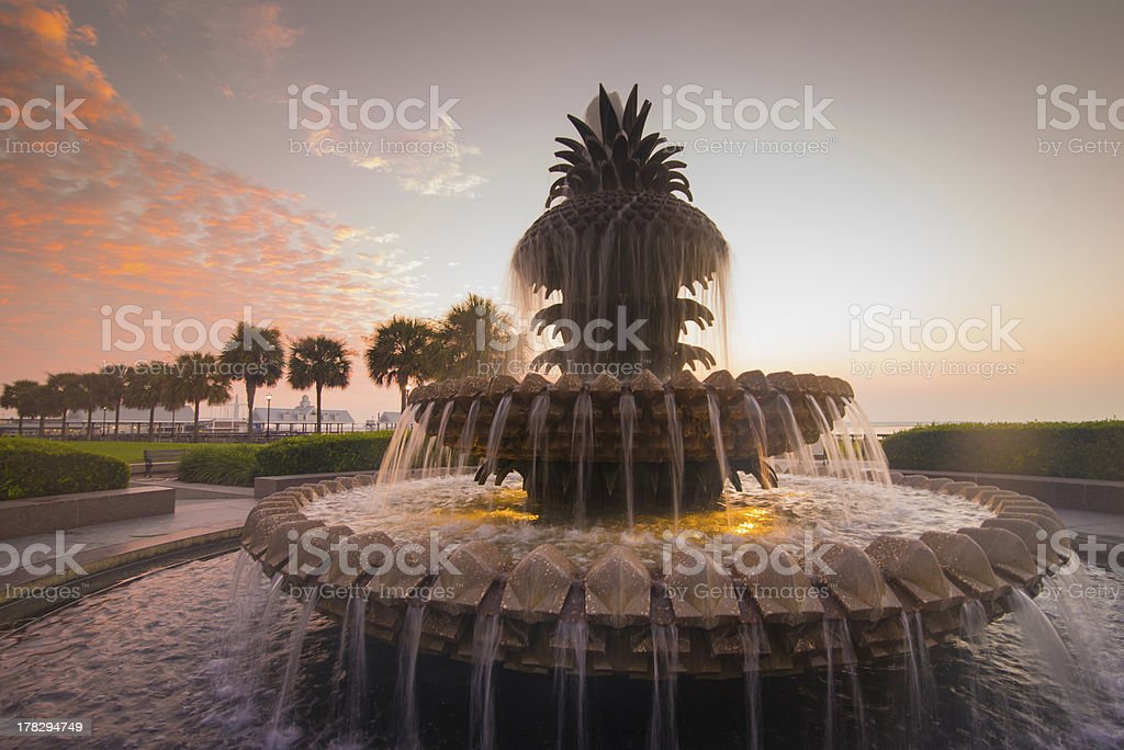 Pineapple Fountain royalty-free stock photo