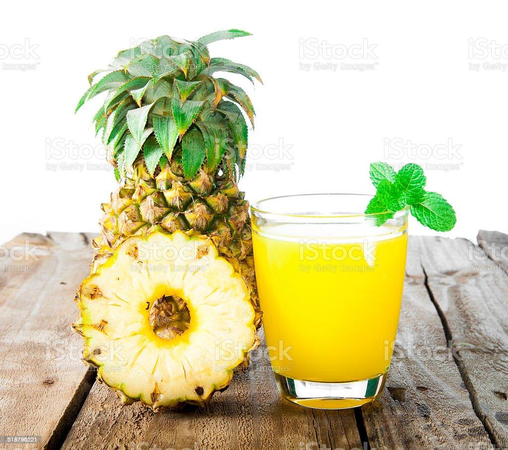 pineapple fresh juice drink stock photo