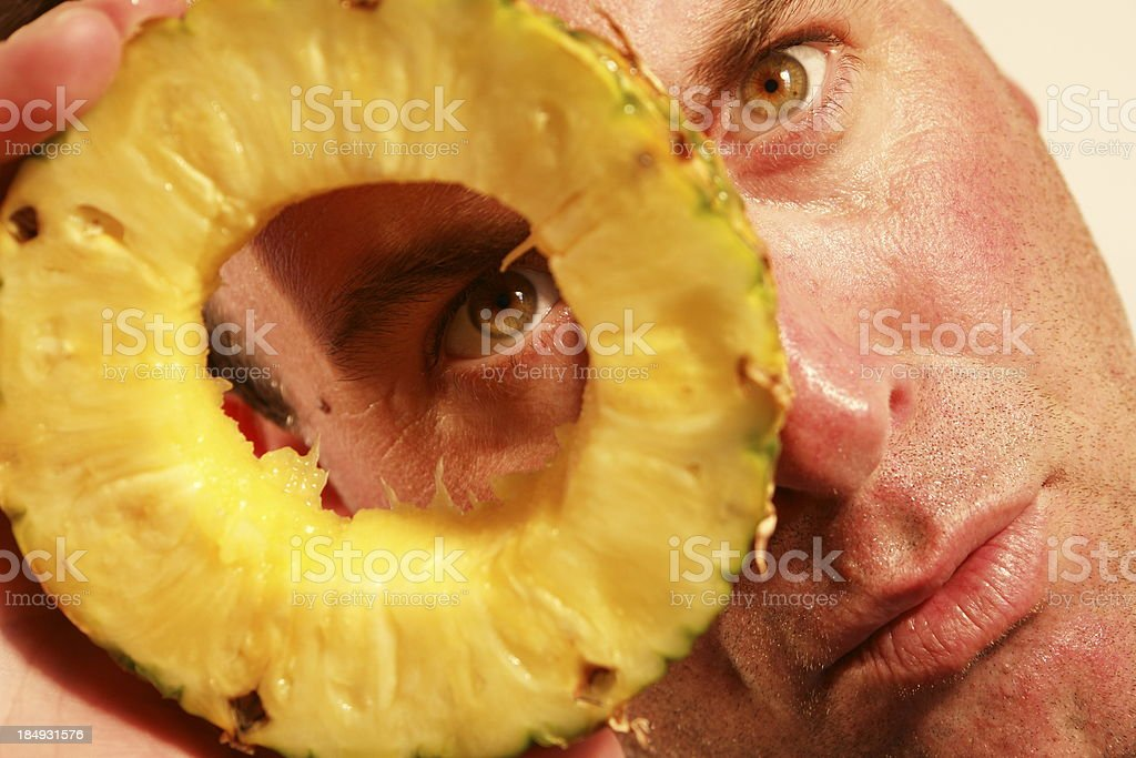 Pineapple Fruit Face stock photo