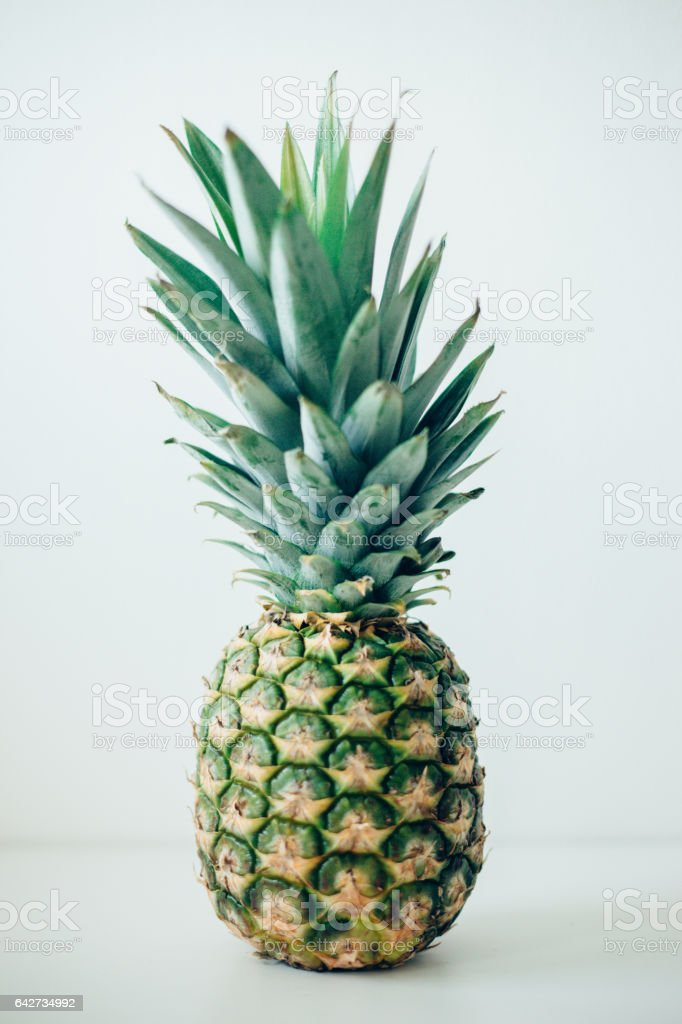 Pineapple fruit stock photo