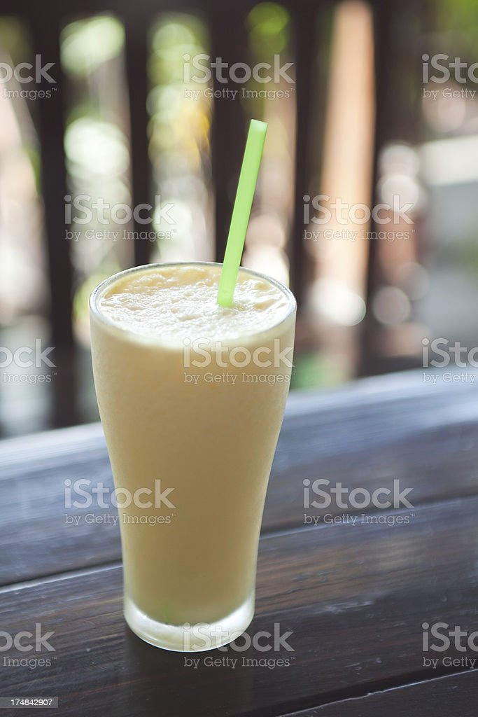 Pineapple Fruit Shake stock photo
