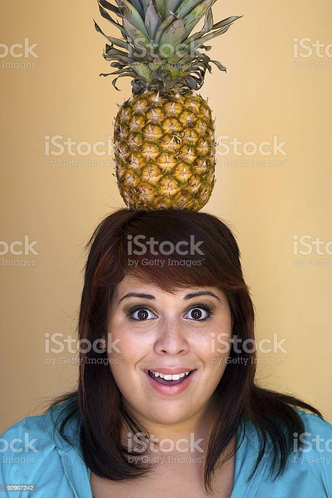 Pineapple Girl stock photo