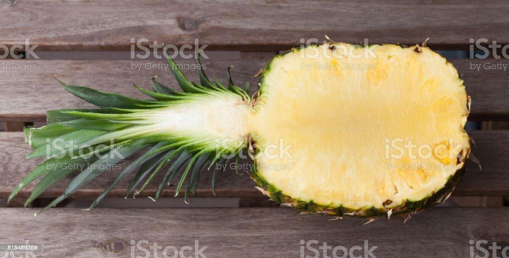 Pineapple half stock photo
