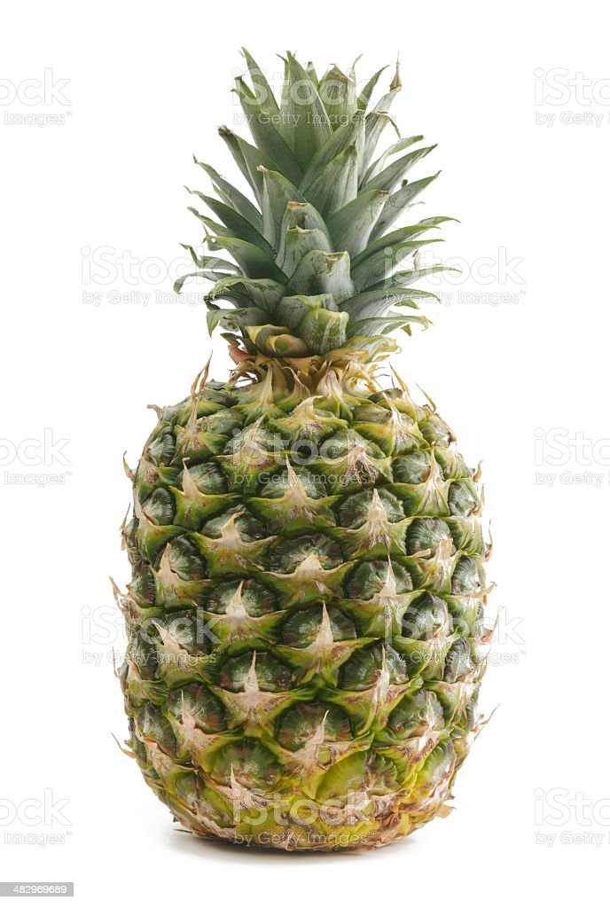 Pineapple Isolated on White royalty-free stock photo