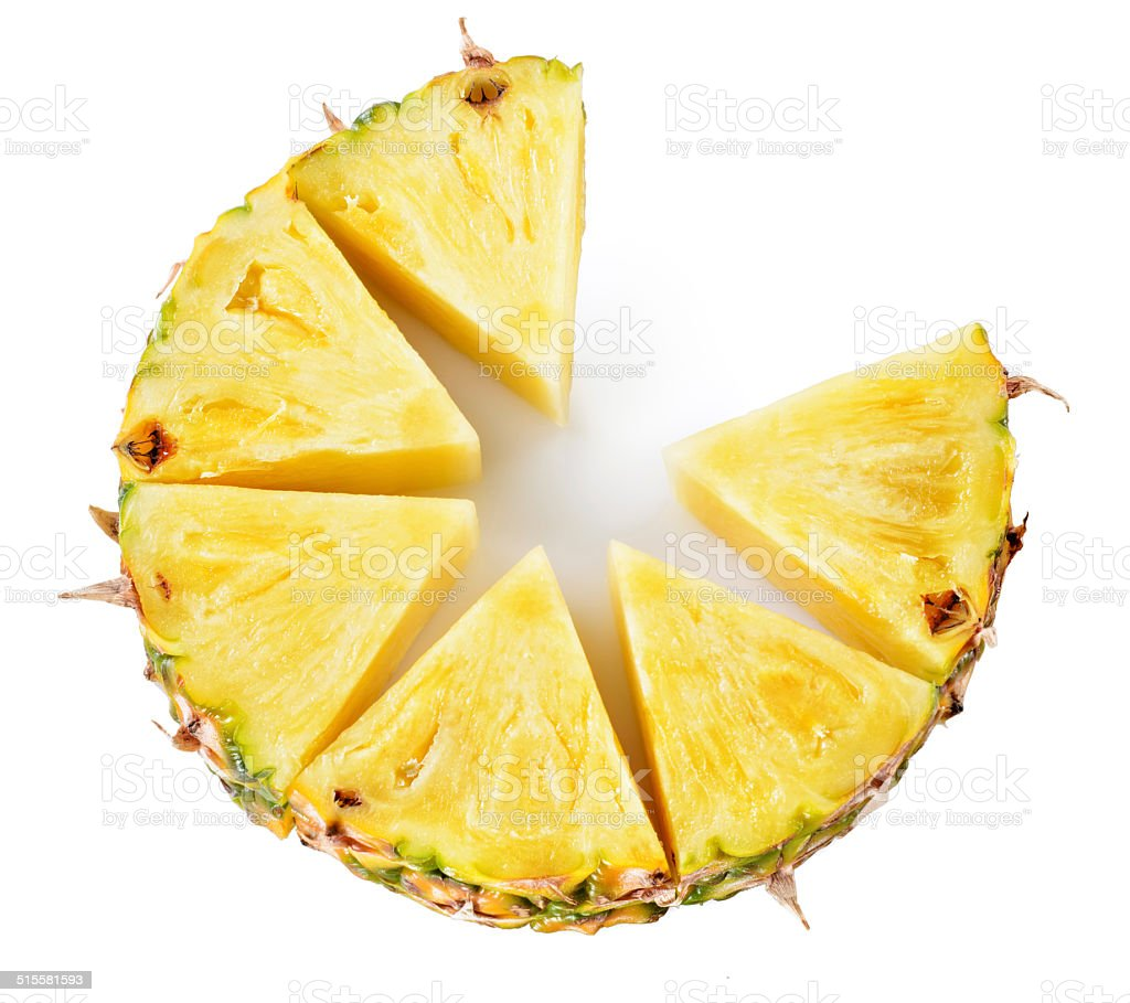 Pineapple isolated on white stock photo