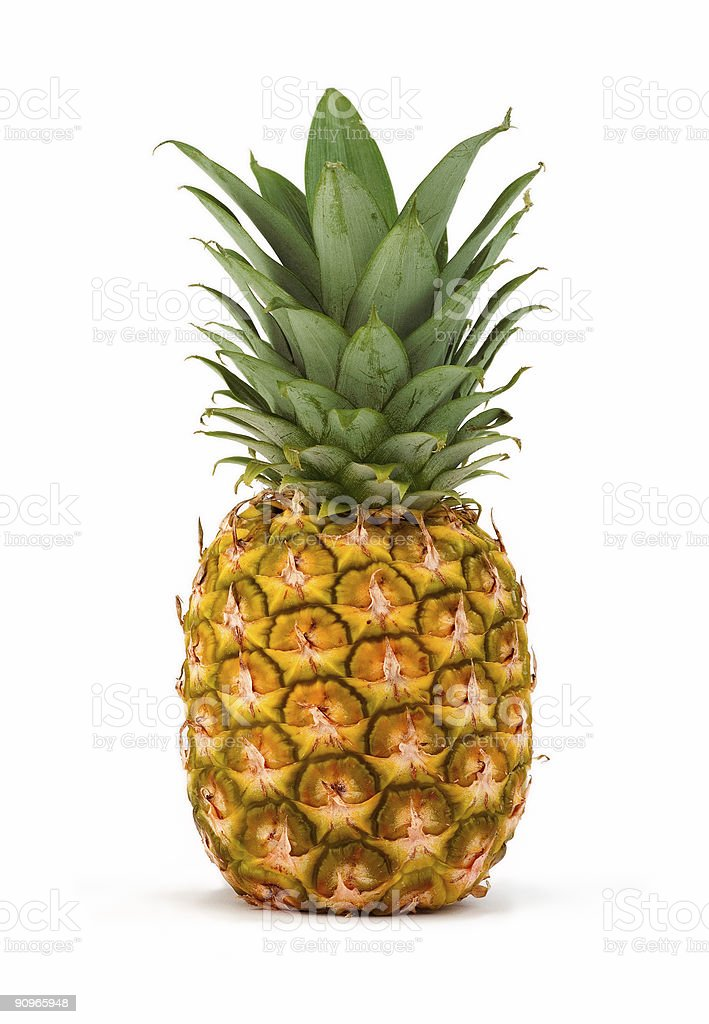 pineapple isolated stock photo