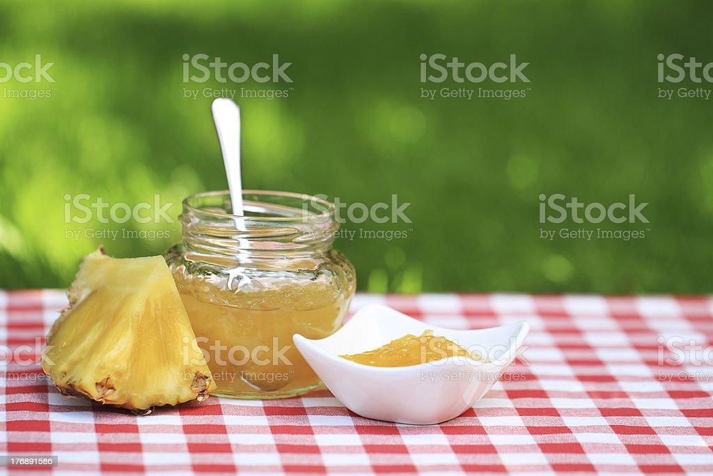 Pineapple jam royalty-free stock photo