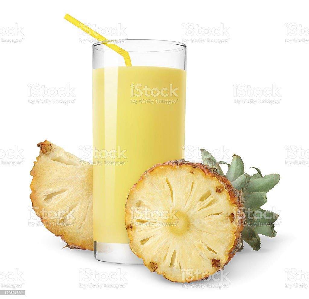 Pineapple juice royalty-free stock photo