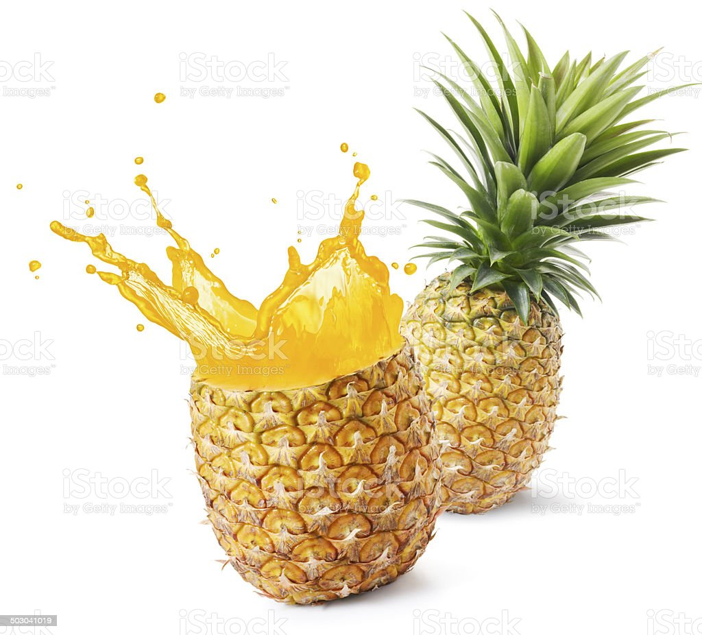 pineapple juice royalty-free stock photo