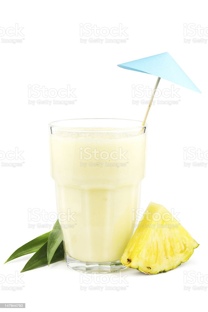Pineapple milkshake stock photo