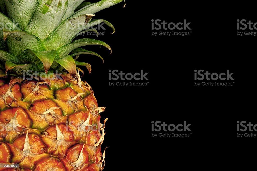 Pineapple on black royalty-free stock photo
