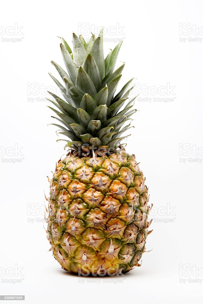 pineapple over white background stock photo
