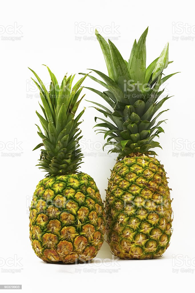 Pineapple Pair stock photo