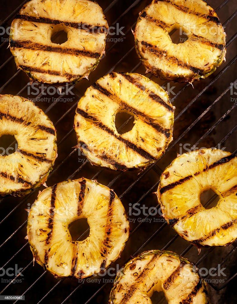 BBQ Pineapple stock photo