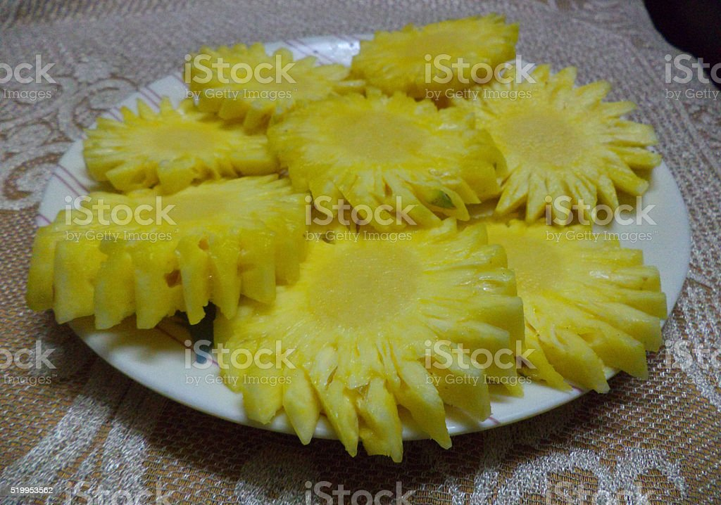 Pineapple Rings stock photo