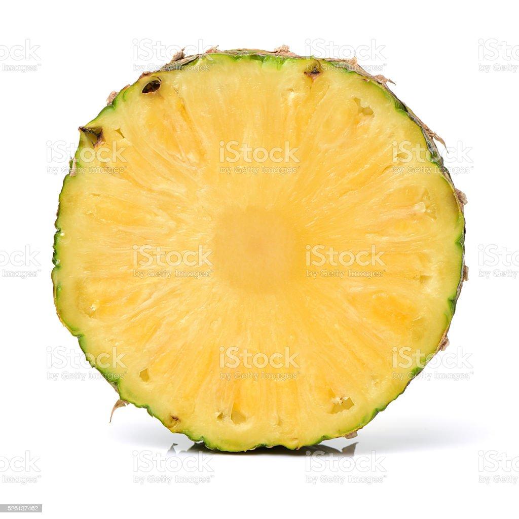 Pineapple round slice stock photo